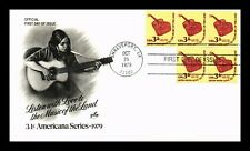 US COVER GUITAR MUSIC OF THE LAND AMERICANA COIL FDC ARTCRAFT CACHET