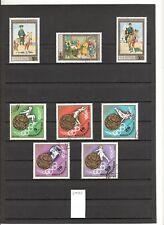 N°594 A à F - Mongolie ( 1972-74 ) - Lot de 67 timbres oblitérés