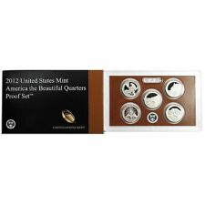 2012 - S Proof National Parks Quarters 5-coin Set OGP in Box with COA