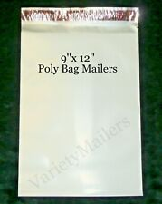 100 Poly Bag Mailers 9x12 / 2.5 Mil Quality Shipping Envelope Bags