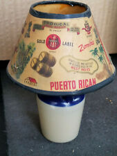 Vintage Caricoa Rum Mini Lamp Puerto Rican (Great Condition) Empty New Old Stock
