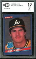 1986 Donruss #39 Jose Canseco Rookie Card BGS BCCG 10 Mint+