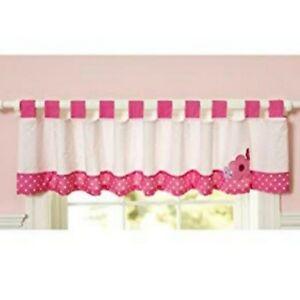 Child of Mine Carters Valance Ballerina Monkey Pink Polka Dot Flowers 12 x 90 in