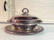 """Wm. Rogers Silverplate 10"""" Covered Casserole Server with Underplate"""