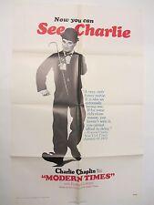 Modern Times Film Poster - Original 1972 Poster Charlie Chaplin Poster