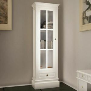 White Bookcase Shelf Display Cabinet Shelving Book Storage Organizer Bookshelf