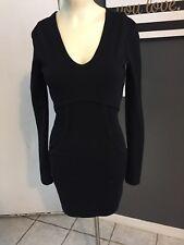 b21dd40a386 S1 T Alexander Wang Dress Xs Black Long Sleeve Thick Empire Dress Pockets  Zipper