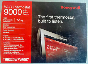 Honeywell Wi-Fi 9000 Voice Control 7-Day Programmable Thermostat (TH9320WFV6007)