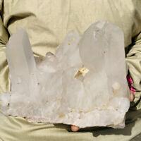 5.4LB Huge Natural Clear White Crystal Quartz Cluster Mineral Specimen Healing