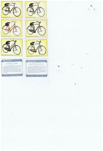 Rare Raleigh All The Steel Bicycle Cards  Full Set 48
