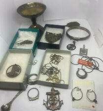 Lot Of Sterling Jewelry And Scrap.  3.8 Oz Total 108 Grams
