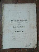 HALEVY F. La Fée aux Roses Opéra partition gravée - pour deux violons Troupenas