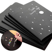 56K Black Paper Sketch Book Diary Graffiti Notebook For Drawing Painting Notepad