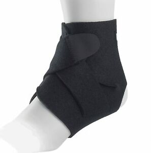 Adjustable Neoprene Ankle Support with Compression Straps - Ligament Injury Pain