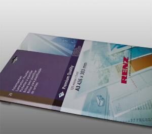 25 x RENZ A3 Laminating Pouches Gloss Laminator Sheets Sleeves 250 Micron