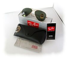 ray ban aviator sunglasses used  new mens sunglasses ray ban rb3025 l0205 58mm aviator gold