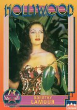Dorothy Lamour, Actress, Hollywood Star Walk of Fame Trading Card - NOT Postcard