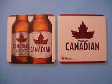 Beer Mat Bar Coaster: MOLSON Canadian Biere Lager ~ S&H Add'l Coaster Only $0.25