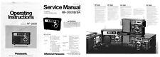 OPERATING / SERVICE MANUALS + BROCHURE for the PANASONIC RF-2600 - PHOTOCOPY