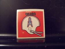 1977 NFL Football Helmet Sticker Decal Houston Oilers Sunbeam Bread