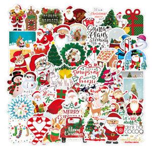 100pcs Christmas Xmas Stickers Pack Kids Labels Seals Envelope Fun Decoration