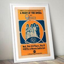 More details for queen vintage concert poster, freddie mercury print, rock band poster