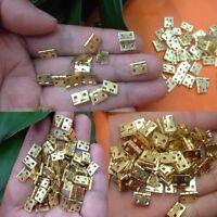 100pcs Mini Brass Plated Hinge - Small Decorative Jewelry Cigar Box Hinges Parts