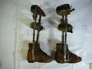 (poor condition) Pair of Vintage Child's Leg Braces Polio