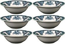 "JOHNSON BROS OLD BRITAIN CASTLES BLUE 6 x CEREAL BOWLS 15.5cm / 6"" (seconds) NEW"