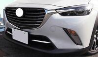 Für Mazda CX-3 2016-2018 Chrom Luftansaugung Gitter Leisten Stoßstange BE