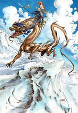 PEINTURE ORIGINALE dragon signée Gwendal Lemercier