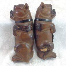 Antique Hinged Cigar Box Holder Mold Dog Figural Vintage Begging Bulldog Boxer