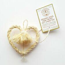 Organic Sisal Pom-Heart Pet Chew Toy for Rabbit Guinea Pig Chinchilla Small Pets