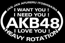 "AKB48 HEAVY ROTATION Japanese idol BUMPER STICKER EURO DECAL 6""X4"""
