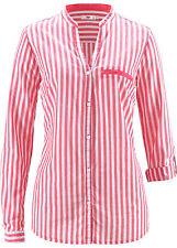 Gestreifte figurbetonte Langarm Damenblusen, - tops & -shirts