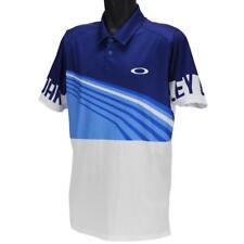 Oakley Bradman Polo Mens Size M Medium Bright Cerulean Blue Golf Regular Fit Tee