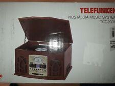 Telefunken TCD200M Nostalgie Musikanlage mit Plattenspieler (UKW, CD-RW, Aux-in)