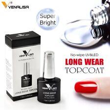 VENALISA NO WIPE TOP COAT DIAMOND LONG WEAR Upgraded UV LED GEL NAIL POLISH UK