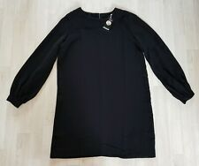 HEIDI KLUM size 16 black SHIFT DRESS long sleeves PARTY occasion ESMARA mini