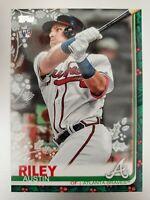 2019 Topps Holiday Baseball Austin Riley Christmas Variation RC SP 063 Code