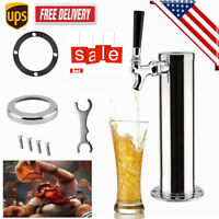 Single Tap Draft Beer Tower Dispensing One Faucet Stainless Steel Homebrew