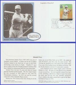 USA5 #3408n U/A MYSTIC FDC Legends of Baseball Jimmie Foxx