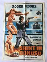 VENDETTA FOR THE SAINT 1970s Original Turkish Movie Poster RARE Roger Moore