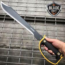 "24"" HUNTING SURVIVAL Sawback Military FULL TANG MACHETE Blade Knife SWORD - U"