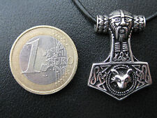 Thor s Hammer 925'er Silber + Geschenkbox + Band etNox Anhänger / KA 325