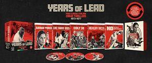 Years of Lead: Five Classic Italian Crime Thrillers 1973/1977 Blu Ray Region B