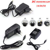Adapter Charger Power Supply for LED Strip Light DC 5/6/9/12V 1/2/3A AC100-240V