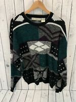 VTG M GERALD Cosby Coogi Style Sweater Geometric Abstract Size XL
