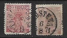 Sweden Sc 12,12a  USED FVF