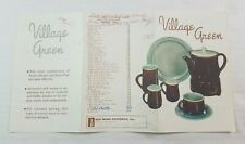 Red Wing Pottery Minnesota Village Green Advertising Brochure Catalog 1950's USA